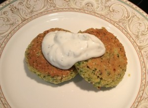 The delicious end product - Best Ever Salmon Patties!